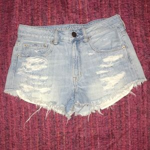 American Eagle cut-off denim shorts
